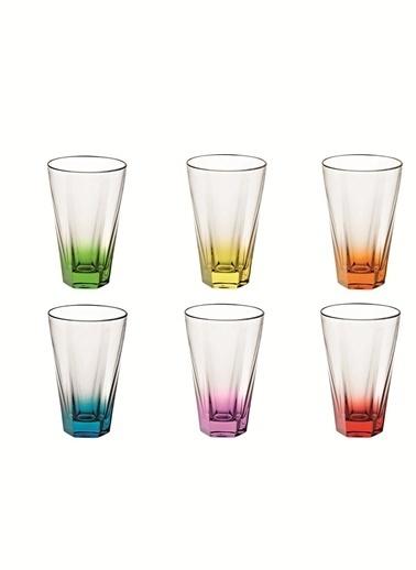Vidivi Esa Cam Su Bardağı 6'Lı Set  Renkli